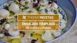 Ensalada templada de sepia y patatas