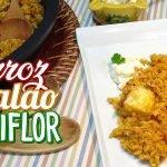 Arroz con bacalao y coliflor ¡Un plato riquísimo y fácil!  - Recetas paso a paso, tutorial
