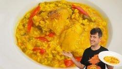 Arroz con pollo caldoso