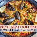 Auténtica receta española de paella de mariscos - Colab con los mejores bocados para siempre