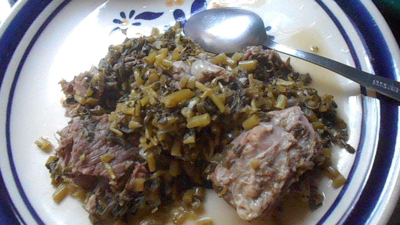 Carne de Res con Verdolagas - Cocina Receta