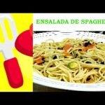 ENSALADA DE SPAGUETTI CON AGUACATE. ¡¡RICO... RICO!! Las mejores recetas de cocina casera