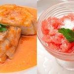 Fogonero con salsa de tomate y pimiento - Sorbete de sandía - Cocina Abierta de Karlos Arguiñano