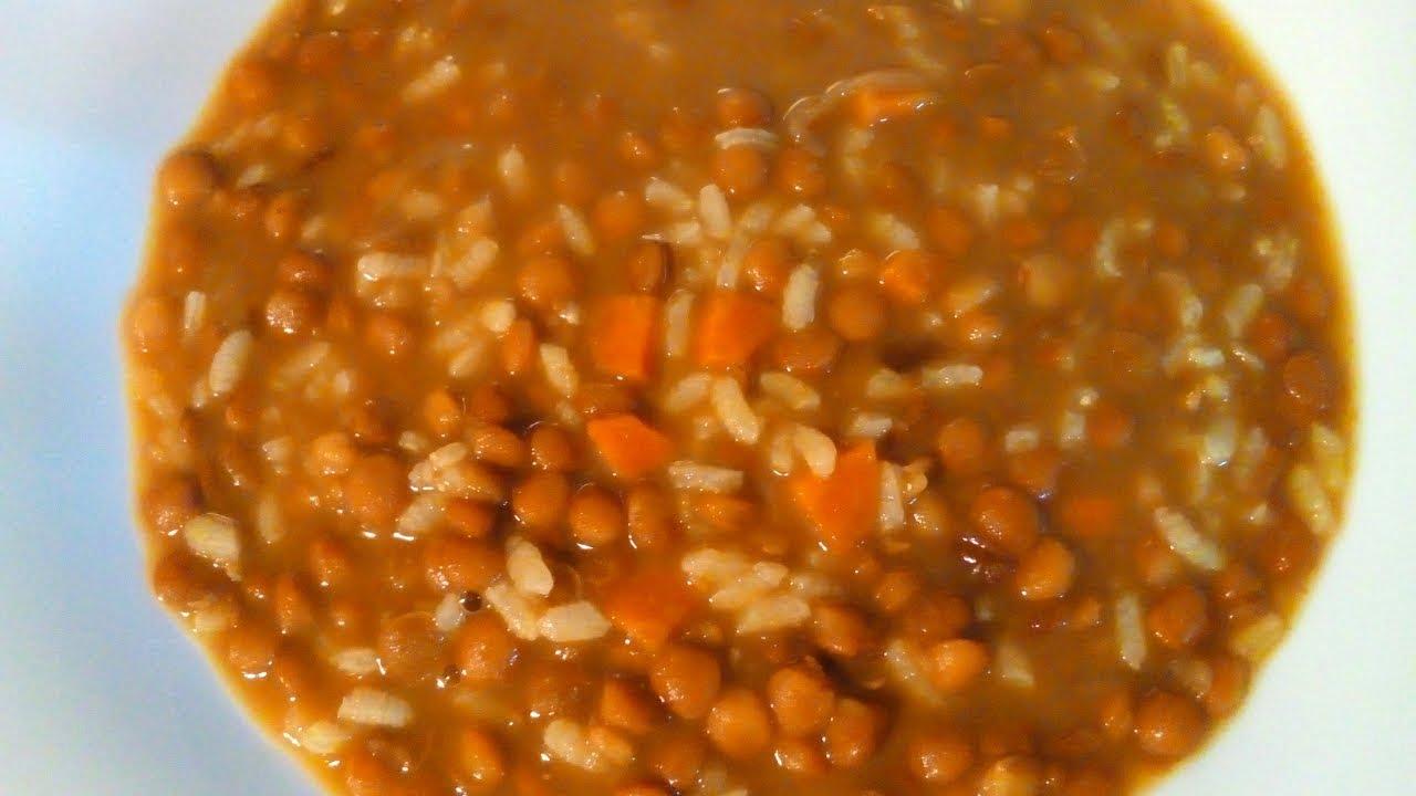 LENTEJAS CON ARROZ - Recetas de cocina fáciles y económicas
