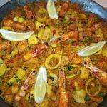 Paella con luna y mariscos a mi manera muy maravillosa y deliciosa recette de paella delicioso Ramadán 🌙