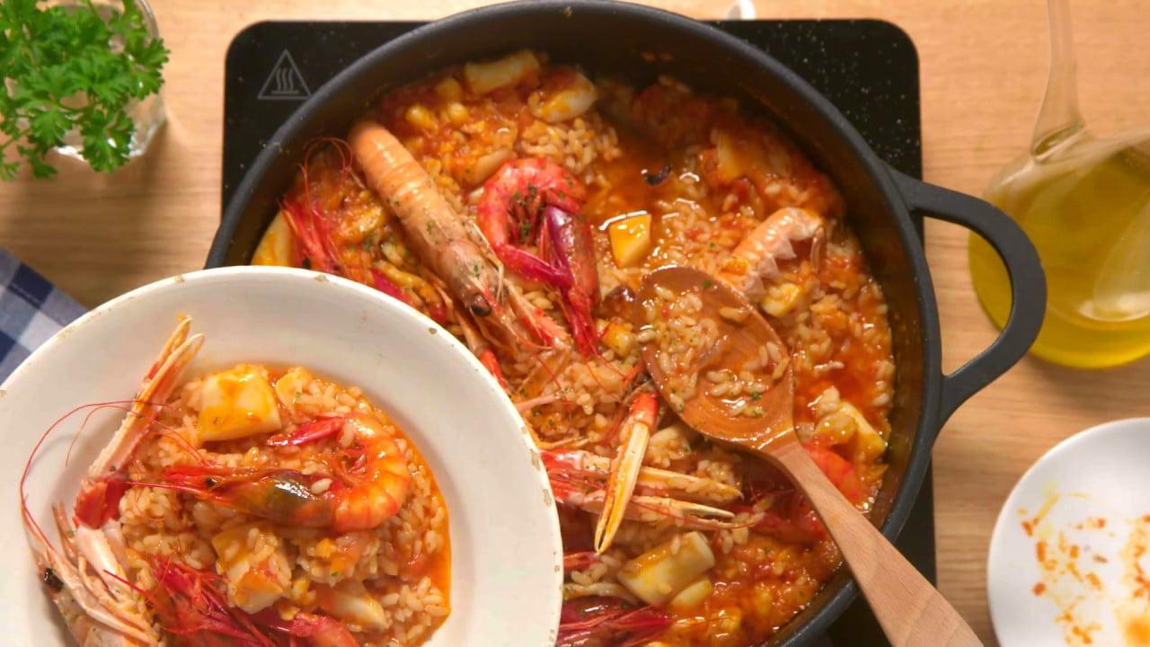 Paella de marisco - Recetas Nestlé Cocina