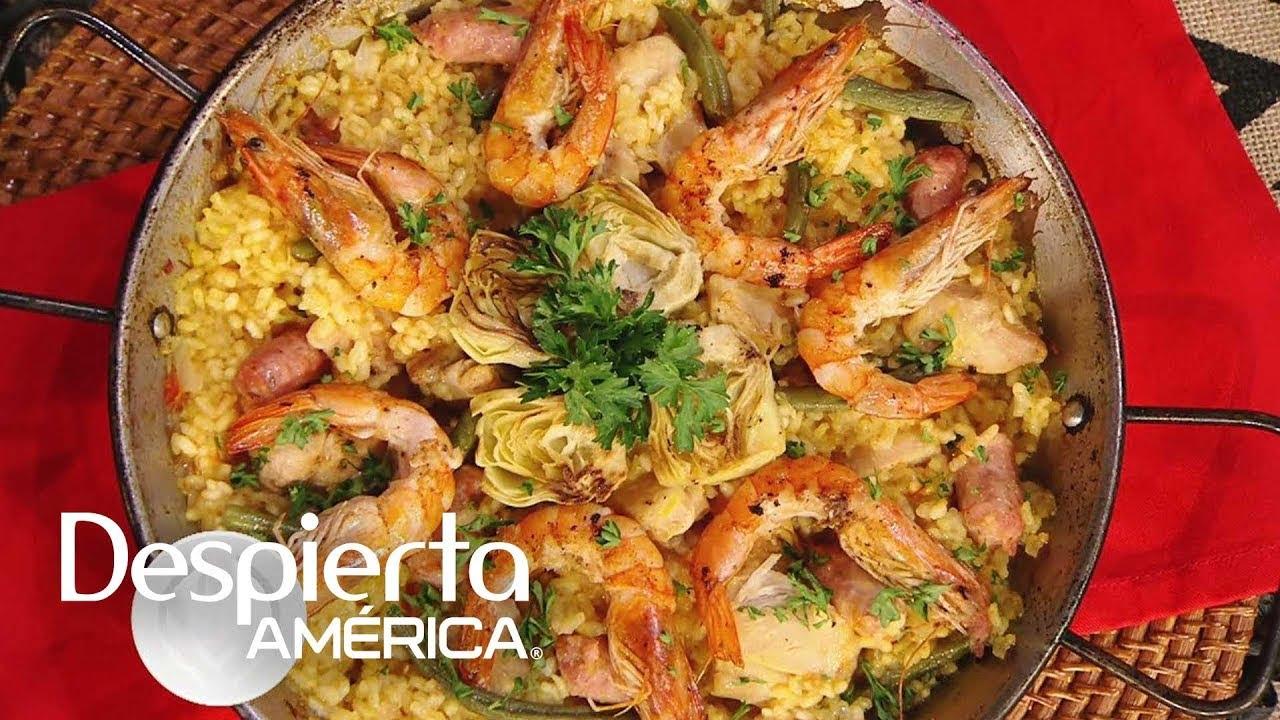 Receta de paella valenciana en solo 5 pasos   Cocineros Latinos