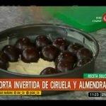 Receta dulce: Torta invertida de ciruelas y almendras Mi receta de cocina
