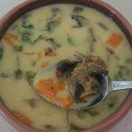 Sopa de champiñones con leche de coco - vegana - muy fácil- entrada o cena  Mi receta de cocina
