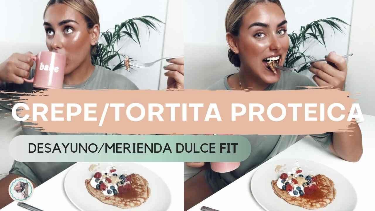 TORTITA / CREPE PROTEICO  - Receta Dulce Desayuno o Merienda FIT  - Cocina conmigo