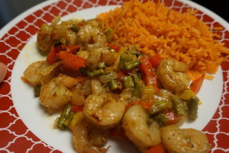 camarones con verdura // receta fácil