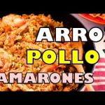 ARROZ CON POLLO Y CAMARONES - como se prepara el ARROZ CON POLLO Y CAMARONES :  QUE HAGO EN CASA