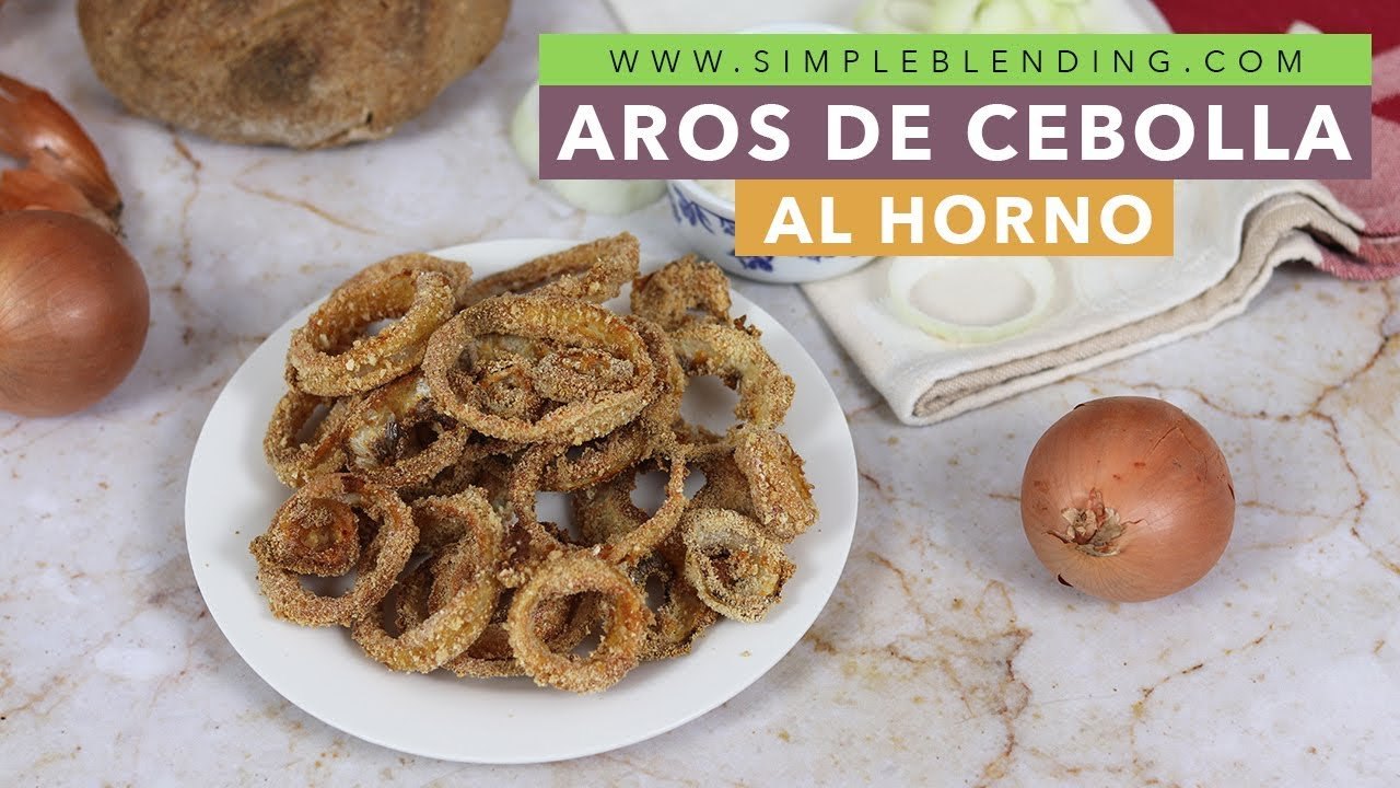 Aros de cebolla al horno | Aros de cebolla saludable y supercrujientes | Receta paso a paso