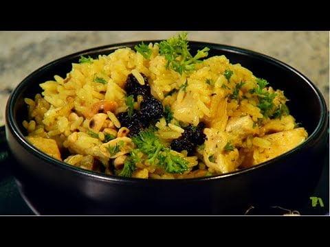 Arroz al curry con pollo y leche de coco | Lucero Vílchez | La Sartén por el Mango