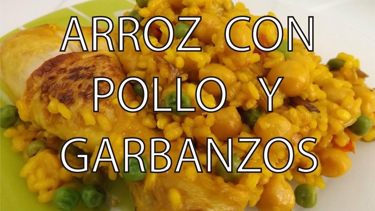 Arroz con Pollo y Garbanzos. Fácil y Rápida