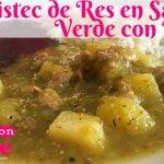 BISTEC DE RES EN SALSA VERDE CON PAPAS RECETA / COMIDA MEXICANA / COCINA CON MARIE / CC SUBTITLES/#5