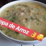 COMO HACER SOPA DE ARROZ CON MONDONGO. Recetas de cocina fácil y rápido