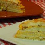 Cómo hacer pastel de tortillitas rellenas