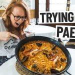 Comida española: ¡los estadounidenses prueban la paella POR PRIMERA VEZ! (Barcelona, España)