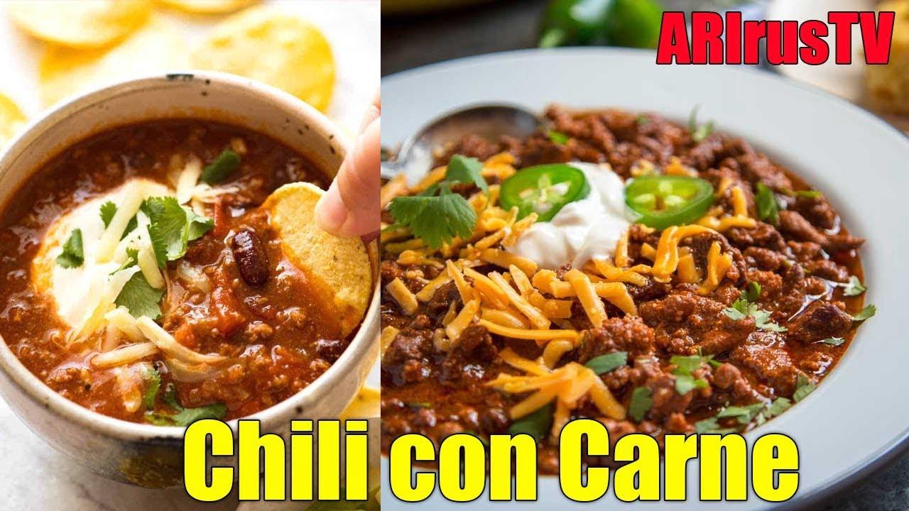 Como Preparar Chili con Carne en Casa - Receta de cocina Muy Fácil de Preparar