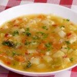 Esta sopa de verduras no lleva absolutamente NADA de grasa