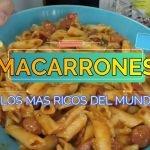 🥣LOS MACARRONES MAS RICOS DEL MUNDO, RECETA FÁCIL. vlog recetas de cocina