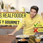 Menú COMPLETO Realfooder / 4 RECETAS gourmet con COMIDA REAL 😍