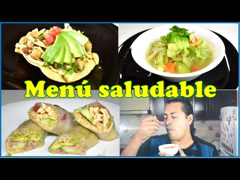 Menú saludable, 3 riquisimas y rápidas recetas, para comer saludable y economico