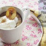 Mug Cake de Chocolate y Plátano: Receta Fácil  Mi receta de cocina