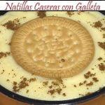Natillas Caseras con Galleta   Receta de Cocina en Familia