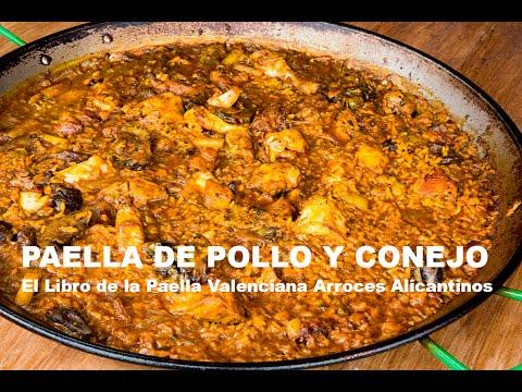 Paella de pollo y conejo El Libro de la Paella Valenciana Arroces Alicantinos ArturG