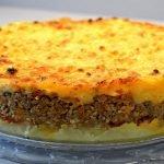 Pastel de Carne y Patata. Receta Fácil con Carne Picada y Patatas.