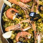 RECETA PAELLA DI BARCELONA • La cocina de Venus con el invitado Roberto di Pizzeria en el camino