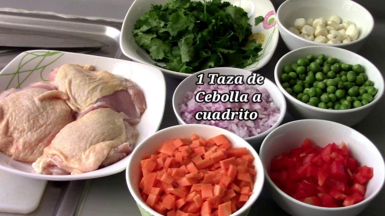 Receta del dia Arroz con pollo facil y rico Comida peruana