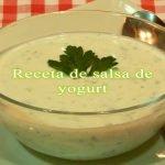 Receta fácil de salsa de yogurt / Salsa kebab