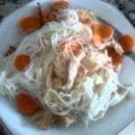 Receta sin gluten, Fideos Chinos  (Way Way) con Hummus  Mi receta de cocina