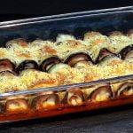 Rollitos de berenjena con jamón York y queso al horno - Recetas paso a paso - Loli Domínguez