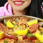 SEAFOOD PAELLA ~ ASMR (sin hablar) Eat Life With Kimchi