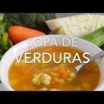 SOPA DE VERDURAS (deliciosa & nutritiva) -  Recetas fáciles Pizca de Sabor