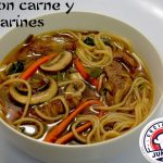 Sopa  con carne y tallarines - Comida China