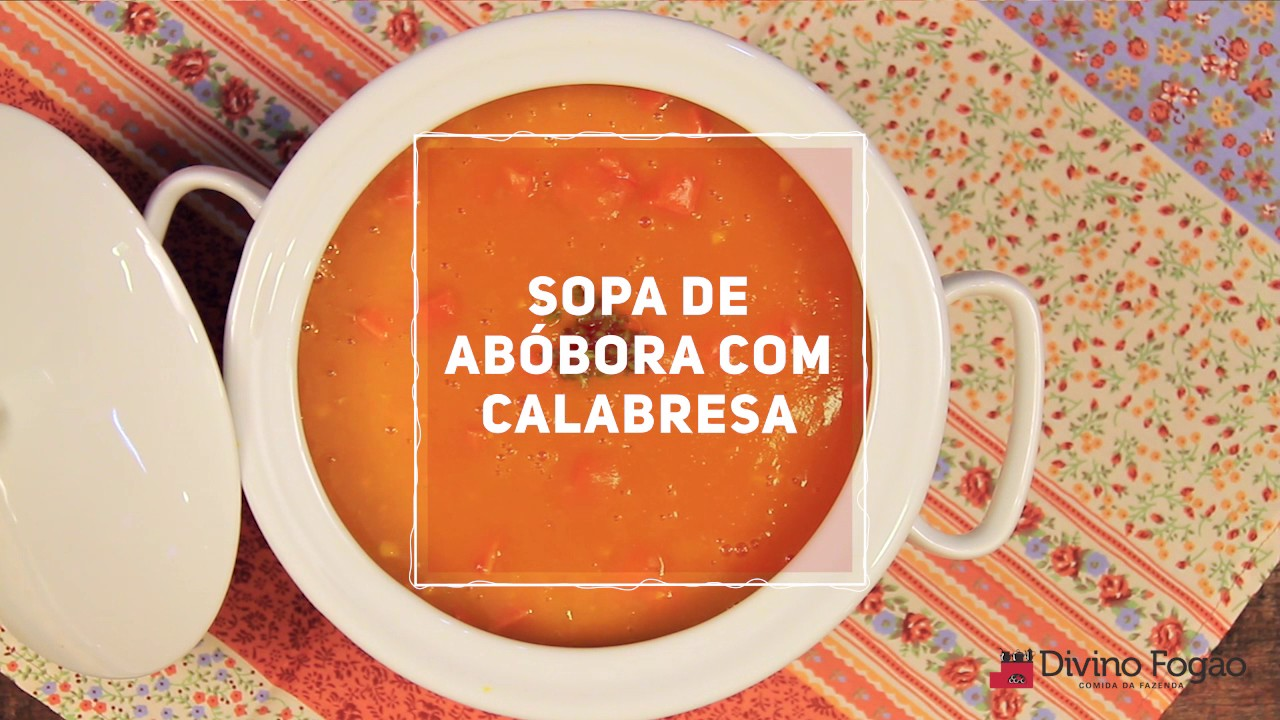 Sopa de calabaza y pepperoni - Divine Minute - Divine Recipes