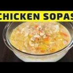 Sopas de pollo ricas y cremosas: sopa de macarrones con pollo filipino
