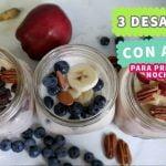3 Desayunos Fáciles y Saludables con Avena - Las Recetas de Laura ❤ Recetas de Comida Saludable