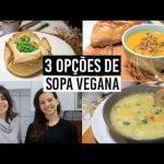 3 OPCIONES DE SOPA VEGANA | Crema de calabaza, sopa y crema de guisantes | Invierno especial | TNM Vegg