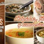 4 sopas con olor y sabor a hogar, ¡fáciles, rápidas y económicas! - Cocina Vegan Fácil