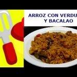 ARROZ CON VERDURAS Y BACALAO. ¡¡¡RICO...RICO!!!. Las mejores recetas de cocina casera