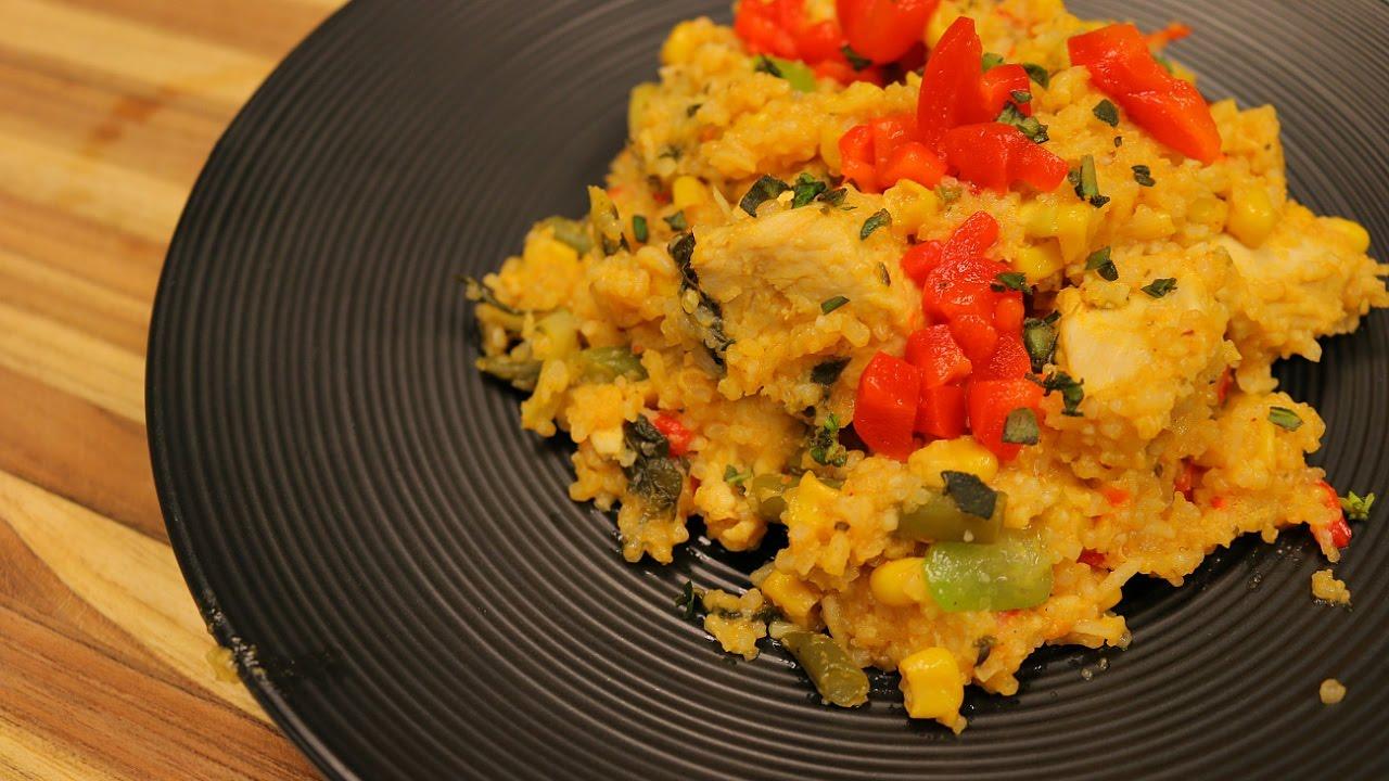 Arroz con pollo saludable - recetas saludables - receta de pollo - recetas de cocina - recetas facil