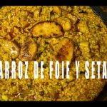 Arroz de Foie con Setas  El Libro de la Paella Valenciana Arroces Alicantinos ArturG