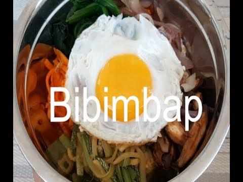 Cómo hacer BIBIMBAP   비빔밥   Cocina rápido y fácil   receta de comida coreana