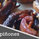 CHAMPIÑONES EN SARTÉN FÁCIL - Recetas de cocina fáciles y económicas